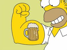 Tattoos Beers Homer Simpson The Simpsons Wallpaper Homer Simpson, The Simpsons, Best Summer Beers, Los Simsons, High Resolution Wallpapers, Futurama, American Crafts, The Duff, Stencil