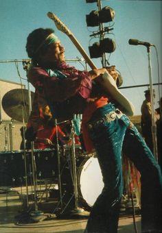 Jimi playing at the Santa Clara Pop Festival, May 1969
