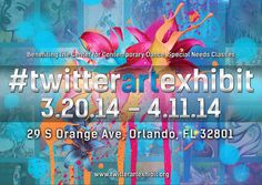 Twitter Art Exhibit is coming up in Orlando Florida! Register by February 21 to participate. Find out more at www.ArtsyShark.com