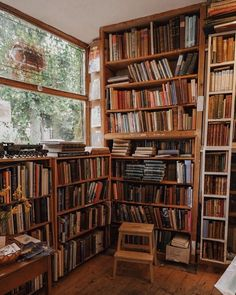 Coffee & Books discovered by tomatoro on We Heart It Wall Bookshelves, Bookcases, Dream Library, Home Libraries, Book Aesthetic, Coffee And Books, Book Nooks, Dream Rooms, Architecture