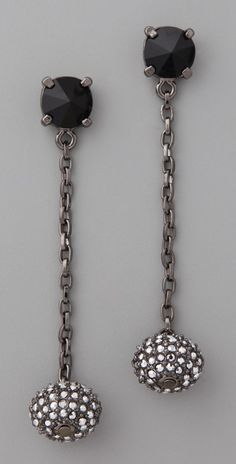 Made Her Think Gladiator Spike Rhinestone Earrings thestylecure.com
