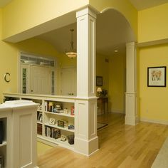16 Best Entryway Half Wall With Post Images Hall Diy Ideas For