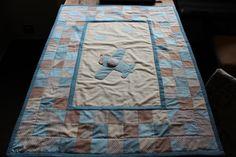 Baby boy patchwork blanket