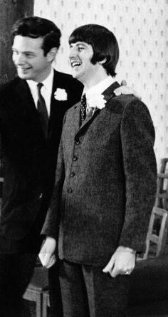 Ringo Starr and Brian Epstein