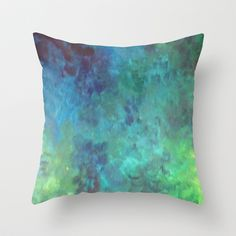 Colors of a fish Throw Pillow by Jadie Miller - $20.00
