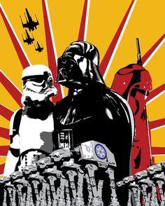 Darth Vader Propaganda Poster, Star Wars Pop Art.