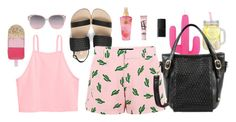 """""""Cool w. the Cactus"""" by mellowworldfashion on Polyvore featuring American Retro, Victoria's Secret, Beauty Rush, NARS Cosmetics, Sunnylife, Mellow World and Accessorize"""