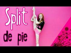 M Split de pie o subir la pierna arriba/ ejercicios de flexibilidad - YouTube