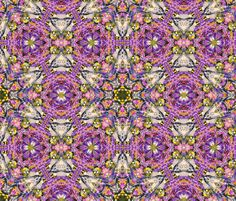 Lavender Impressionist 1 by Ginette (Mirror Repeat) fabric by ginette on Spoonflower - custom fabric