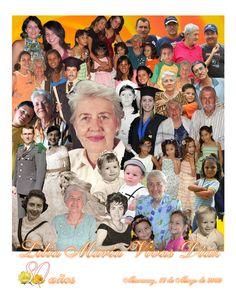 Composición para el cumpleaños 80 de la Sra. Lília, abuela de una amiga mía. / Collage for Mrs. Lília 80th birthday, she's a friend of mine grandma too.