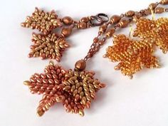 Scourge maple leaves of beads and beads |  Fair Masters - handmade, handmade