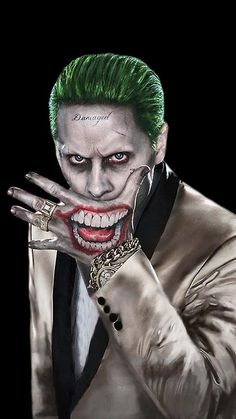 "Jared Leto as The Joker in ""Suicide Squad"" Der Joker, Joker Und Harley Quinn, Joker Art, Jared Leto Joker, Joker Cosplay, Batgirl, Catwoman, Suiside Squad, Joker Drawings"