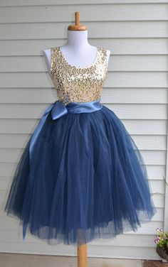 Womens Tutu Navy Blue Tulle skirt Navy Blue by MaidenLaneBoutique Very nice colour combination 👌❤ Blue Tulle Skirt, Tulle Dress, Tulle Skirts, Dance Skirts, Navy Skirt, Homecoming Dresses, Bridesmaid Dresses, Denim And Diamonds, Wedding Skirt
