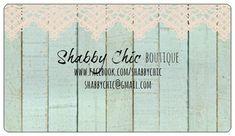 BUSINESS CARD or STICKER Shabby Chic design by JoJoMiMi on Etsy, $6.00