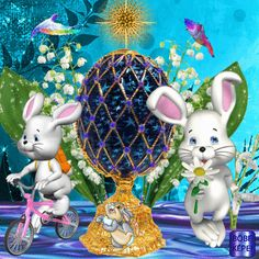 Happy Easter Gif, Happy Easter Wallpaper, Easter Art, Easter Bunny, Christmas Is Coming, All Things Christmas, Holidays And Events, Happy Holidays, Happy Friendship Day