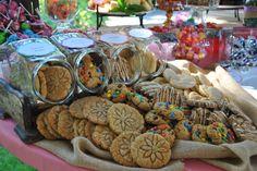 Wedding dessert table display