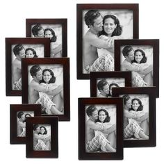 Linear Wood 10-Piece Frame Set - Walnut : Target $26.99