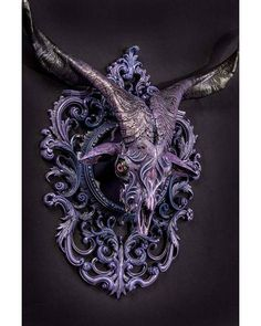 "WEBSTA @ insane.brains - ""Gustaf"" by Chris Haas @mfhaastyle#macabre #skull #horns #goat #goatskull #violet #art #darkart #darkarts #darkness #insane #insaneart #horror #horrorart #artwork #арт #искусство #безумие #череп"