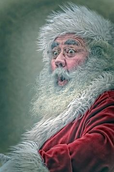 Startled Santa vintage christmas, beds, santa surpris, winter, art, santa claus, christma picsinspir, boxing, paint