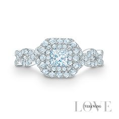 Love the graceful twists and turns in this Vera Wang LOVE ring!