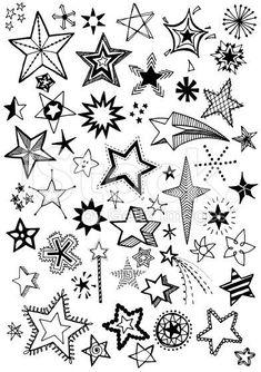Tatto Ideas 2017 stock-illustration-78819375-doodle-stars.jpg...