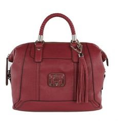 Guess Gerri Ruby Red Box Satchel Bag ❤ liked on Polyvore