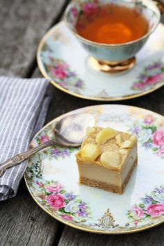 SALTED CARAMEL MACADAMIA SLICE with YouTube video - healthy, raw, dessert, sweet treat, gluten free, dairy free, vegan, paleo