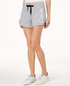 363262a37b901 Calvin Klein Performance Curved-Hem Shorts - Gray S