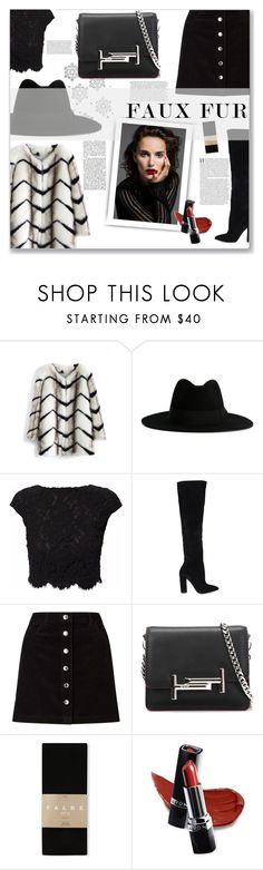 """""""faux fur coats"""" by chantal-07 ❤ liked on Polyvore featuring Chicwish, Yves Saint Laurent, WtR London, ALDO, Miss Selfridge, Tod's, Falke and Avon"""