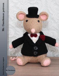 Mr. Gentleman crochet pattern, haak patroon. Dani's Crochet Art