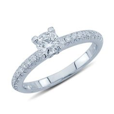 0.15 Ct Round Cut Simulated Diamond Linked Heart Wedding Band Ring In Solid 10K White Real Gold