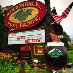 Adirondack Pub & Brewery in Lake George, NY #craftbeer #lakegeorge