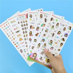 Girl Transparent Decoration Stickers Adhesive Decoration Stickers Bonnie Series Memo Pad