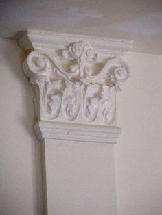 How to Create Decorative Cast Plaster Faux Interior Columns - Tutorial   - Love!!  <3