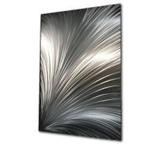 """Abstract Metal Art 'Skype' - 54x36 in. - Modern Art Wall Decor Hand-Ground Patterns , Modern Contemporary Wall Artwork by NY Artwork. $945.00. Made in the USA - each piece is created by hand by a professional modern metal artist. Metal Wall Sculpture Size: 54""""W x 36""""H. Material/Metal: - ground & brushed aerospace-grade aluminum. Green Process - artist uses only the highest quality materials and environmentally-friendly (green) processes. Placement/Care - suitabl..."""