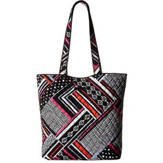 Vera Bradley Tote (Northern Stripes) Tote Handbags ($49) ❤ liked on Polyvore featuring bags, handbags, tote bags, vera bradley purses, vera bradley handbags, striped tote bag, white tote bag and vera bradley tote