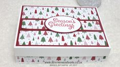 I love making little treats to go in little boxes but sometimes its nice to make a big box just for the sake of it, As a surprise coincidence I think you could fit the whole of my 18 card one sheet wonder from project #2. I\'m out of envelopes so someone will have to test it for me and let me know. I do love how bright and simple the Be Merry DSP is and I think it works great for this project. You could use the Regals best 12x12 as it has the cherry cobbler and Garden green. Which I ...