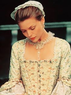 Michelle Pfeiffer costumed in, 'Dangerous  Liaisons', Costume Design by James Acheson.