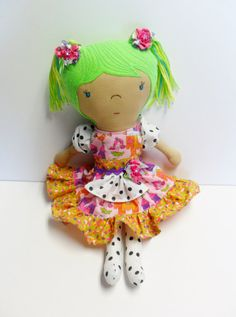 Girls Rag Doll, Personalized Doll, Custom Made Doll, Toddler Gift, Waldorf Doll, Whimsical Easter Gift