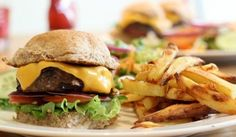 Slimming World recipe: my Healthy Homemade Burger and Chips - soooo good!