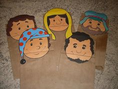 Adalia Helena: FANTOCHES DE SACO DE PAPEL Paper Puppets, Boys, Fictional Characters, Kids Ministry, Paper Bag Puppets, Kids Church, Diy And Crafts, Schools, Sacks