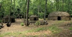 iroquois village, bark longhouse, wigwams, canoe, six nations tribes, northeast united states, canada, native americans, native american tribes and cultures