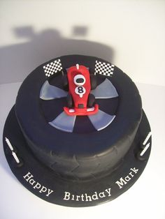 Tyre Cake For A Car Or Motor Racing Fan Vehicle Cakes