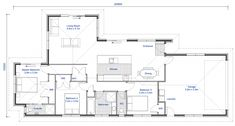 NZ155 castle point 3 bedroom house floorplan