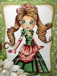 Cathrine      ~ SC Charmings Skin : E0000, E00, E11, E02 and R21 Hair E51, E55 and E57 Dress : Green : G21, G94 and G99 Red : R000, RV 32, RV34, R46 and R59