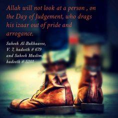 Lower #garments below ankle for men (#Islam, #Hadith, #Isbaal)