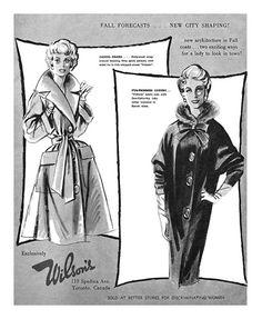 1959 Wilson's Coats ad. #vintage #1950s #fashion