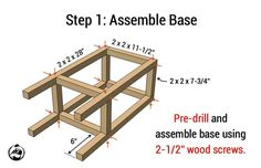 Simple DIY Stool Plans - Step 1