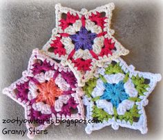 GRANNY STAR PATTERN My patterns are all written in US TERMS The Photo Tutorial for this Pattern...