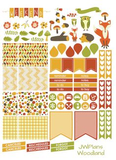 PRINTABLE! Erin Condren Planner Woodland Weekly Kit